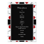 """Ruby red roses - wedding invitations customizable 5"""" x 7"""" invitation card"""