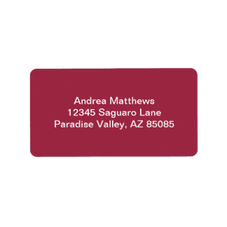 Ruby Red Solid Color Label