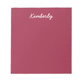 Ruby Red Solid Color Memo Pad