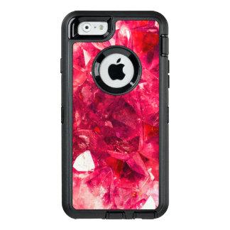 Ruby Red Sparkling Crystal Gemstone Look Alike OtterBox Defender iPhone Case