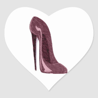 Ruby Red Stiletto Shoe Stickers
