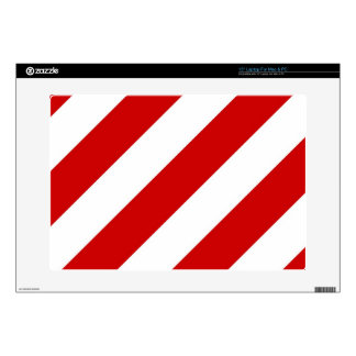 """Ruby Red Stripes 15"""" Laptop Decal"""