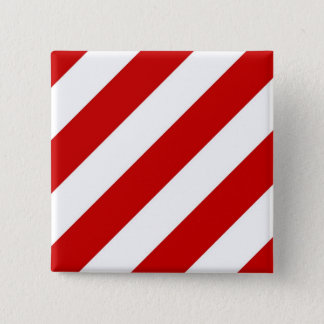 Ruby Red Stripes Button