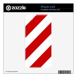 Ruby Red Stripes Decals For iPhone 4S