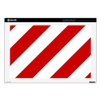 Ruby Red Stripes Laptop Skin