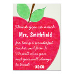 Ruby Red Teacher's Apple Retirement Invite
