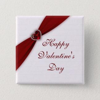 Ruby Red Valentine's Day Button