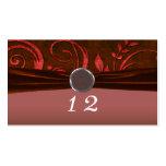 Ruby & Red Velvet Wedding Swirl Business Card Template