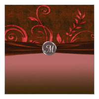 Ruby & Red Velvet Wedding Swirl Card