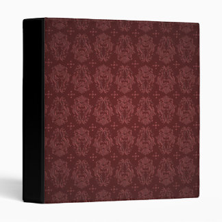 Ruby Red Victorian Delight Damask 3 Ring Binder