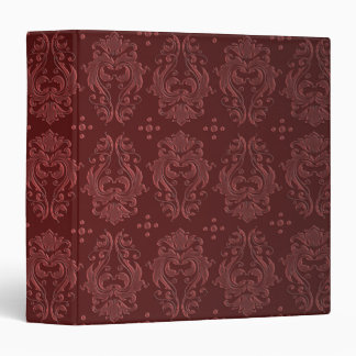 Ruby Red Victorian Delight Damask Binder