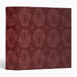 Ruby Red Victorian Delight Damask Vinyl Binder