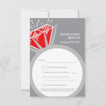 Ruby ring 40th anniversary wedding reply card