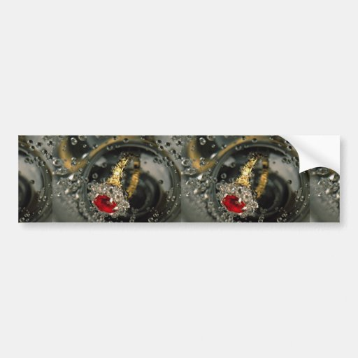 Ruby ring in sparkling water bumper sticker