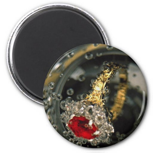 Ruby ring in sparkling water magnets