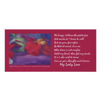 Ruby Rose with Poem My Lady Love Poster