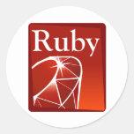 Ruby Round Sticker