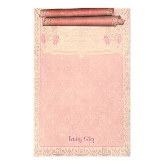 Ruby Sky - Art Nouveau Stationery