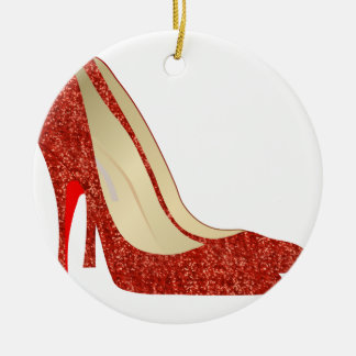 ruby slippers ceramic ornament