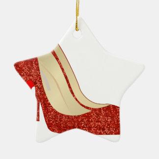 ruby slippers ceramic ornament