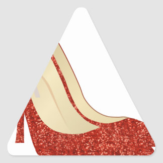 ruby slippers triangle sticker