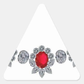 Ruby Socialite Necklace Triangle Sticker