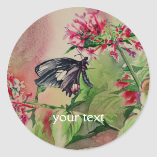Ruby-spotted Swallowtail Fine Art Classic Round Sticker
