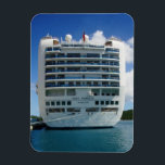 """Ruby Stern View Magnet<br><div class=""""desc"""">The Stern of the Ruby Princess,  moored dockside at Crown Bay,  St. Thomas,  USVI.</div>"""