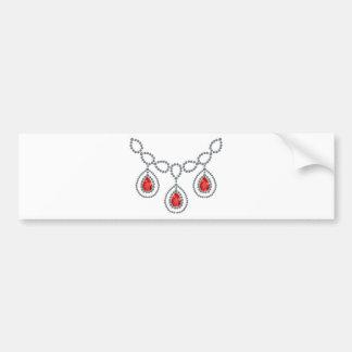 Ruby Teardrop Necklace Bumper Sticker