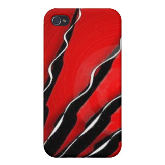Ruby Tendrils Cover For iPhone 4