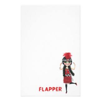 Ruby the Roaring '20s Flapper Stationery