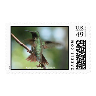 Ruby-throat Takes Wing Postage