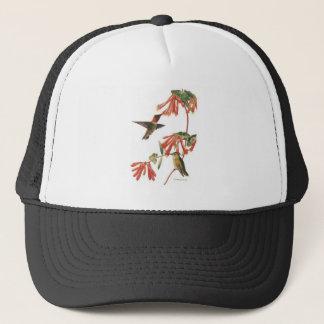 ruby-throated-hummer trucker hat