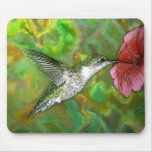 Ruby-throated-Hummingbird-4219-2 Mouse Pads