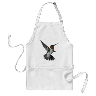 Ruby Throated Hummingbird Adult Apron