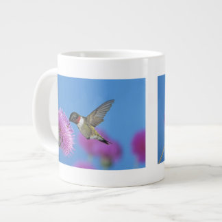 Ruby-throated Hummingbird, Archilochus 4 20 Oz Large Ceramic Coffee Mug