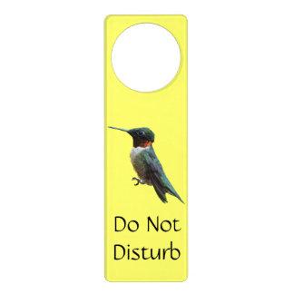 Ruby-Throated Hummingbird Bird Photography Door Hanger