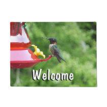 Ruby-Throated Hummingbird Bird Photography Doormat
