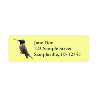 Ruby-Throated Hummingbird Bird Photography Label