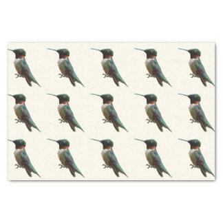 Ruby-Throated Hummingbird Bird Photography Tissue Paper