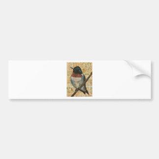 Ruby Throated Hummingbird Bumper Sticker