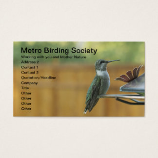 Ruby Throated Hummingbird Business Card