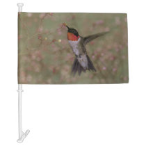 ruby throated hummingbird car flag