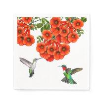 Ruby Throated Hummingbird Couple Napkins