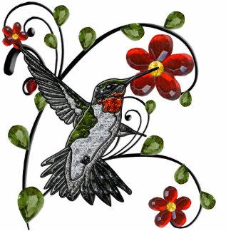 Ruby Throated Hummingbird Cutout