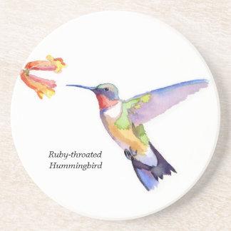 Ruby-throated Hummingbird Drink Coaster