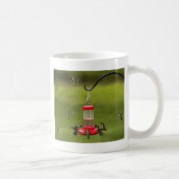 Ruby Throated Hummingbird Feeding Frenzy Coffee Mug