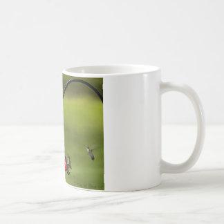 Ruby Throated Hummingbird Feeding Frenzy Classic White Coffee Mug