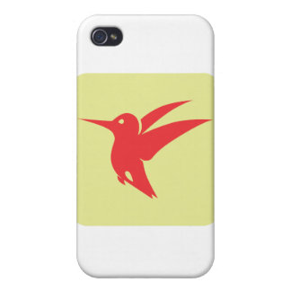 Ruby Throated Hummingbird Icon Covers For iPhone 4