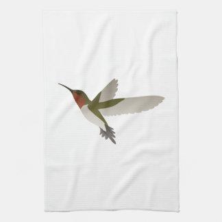 Ruby Throated Hummingbird Kitchen Towels
